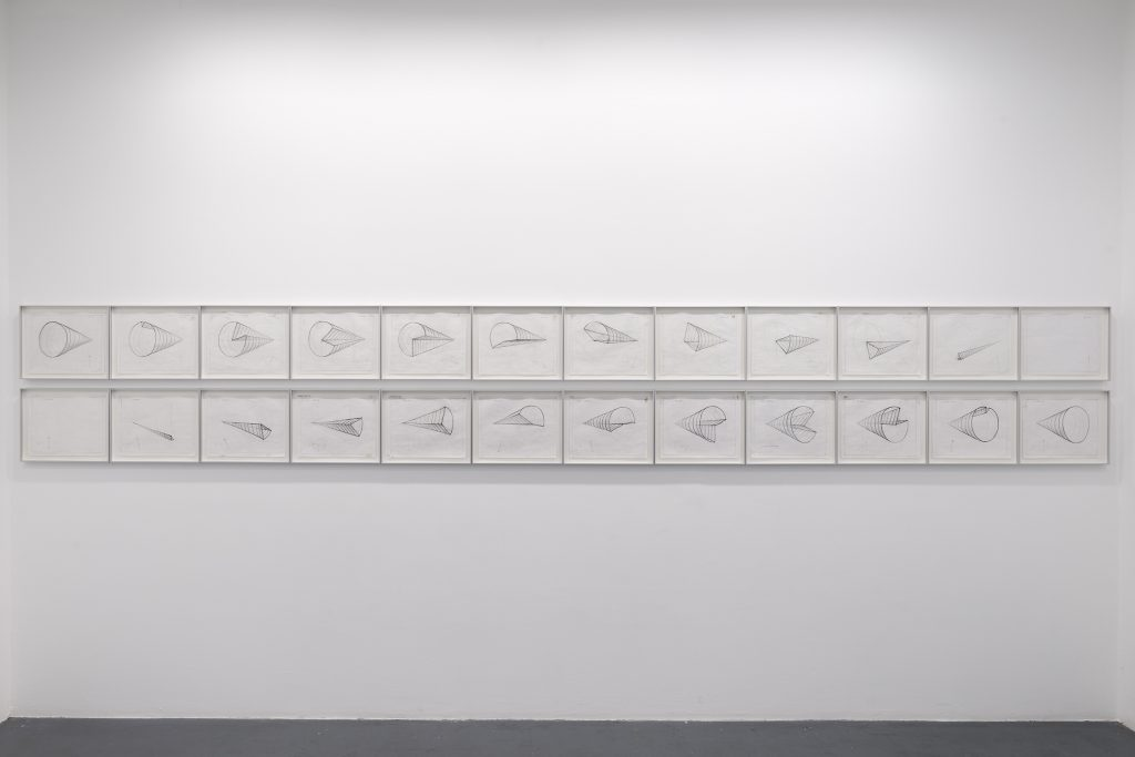 2006-2008, working drawings, 360 degree turn, set of 24, framed, 28 cm x 35 cm each, unique work
