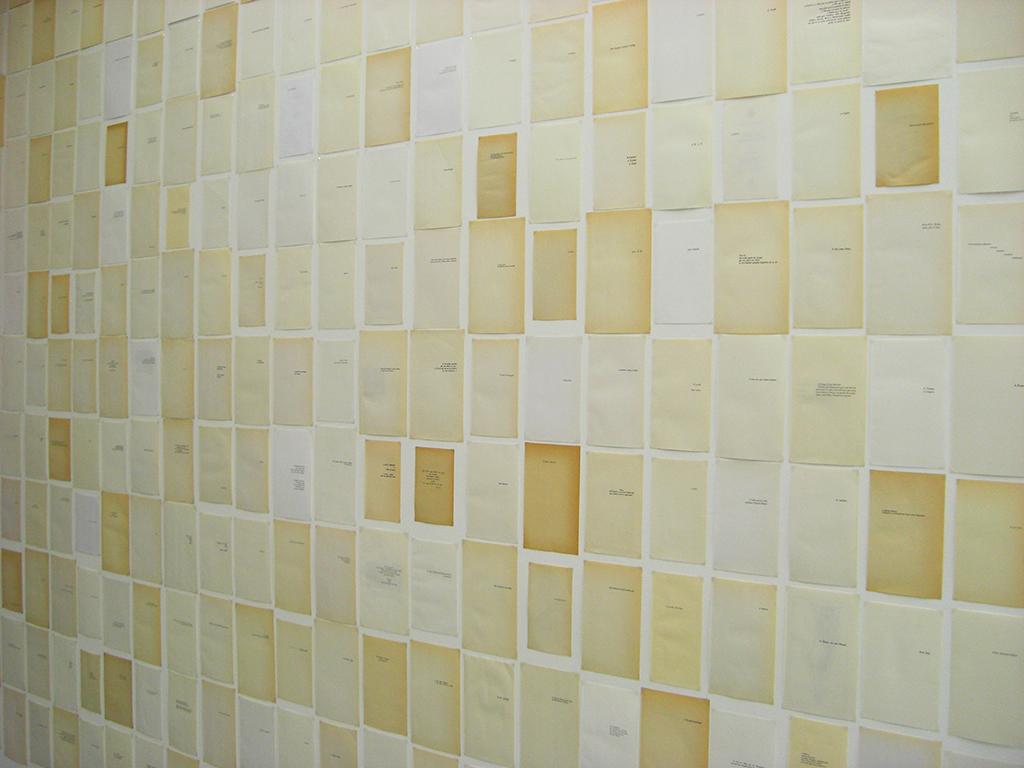 LE MUR 2013 627 papiers imprimés dimensions variables oeuvre unique