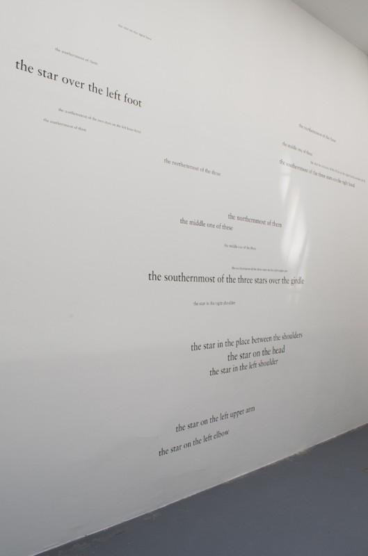 2014, black adhesive letters, dimensions variable, unique work