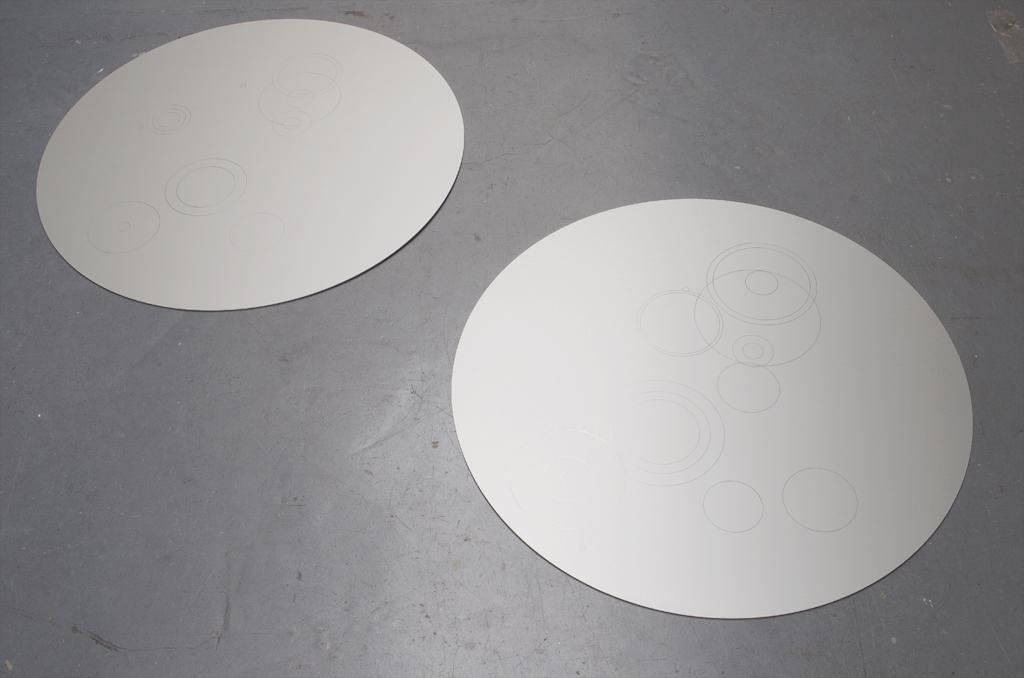 2014 aluminum  diameter 75cm unique works
