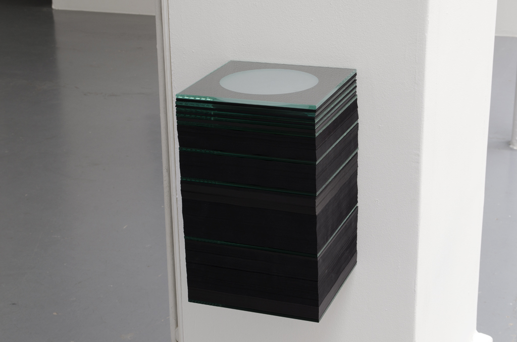 2014, black paper and sandblasted glass (a scale model of the solar system), 32 x 20 x 20 cm, edition of 5