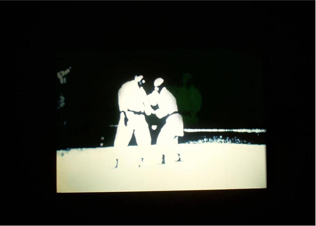 2008 diaporama sur écran phosphorescent Installation 80 diapositives noir et blanc édition de 5 exemplaires