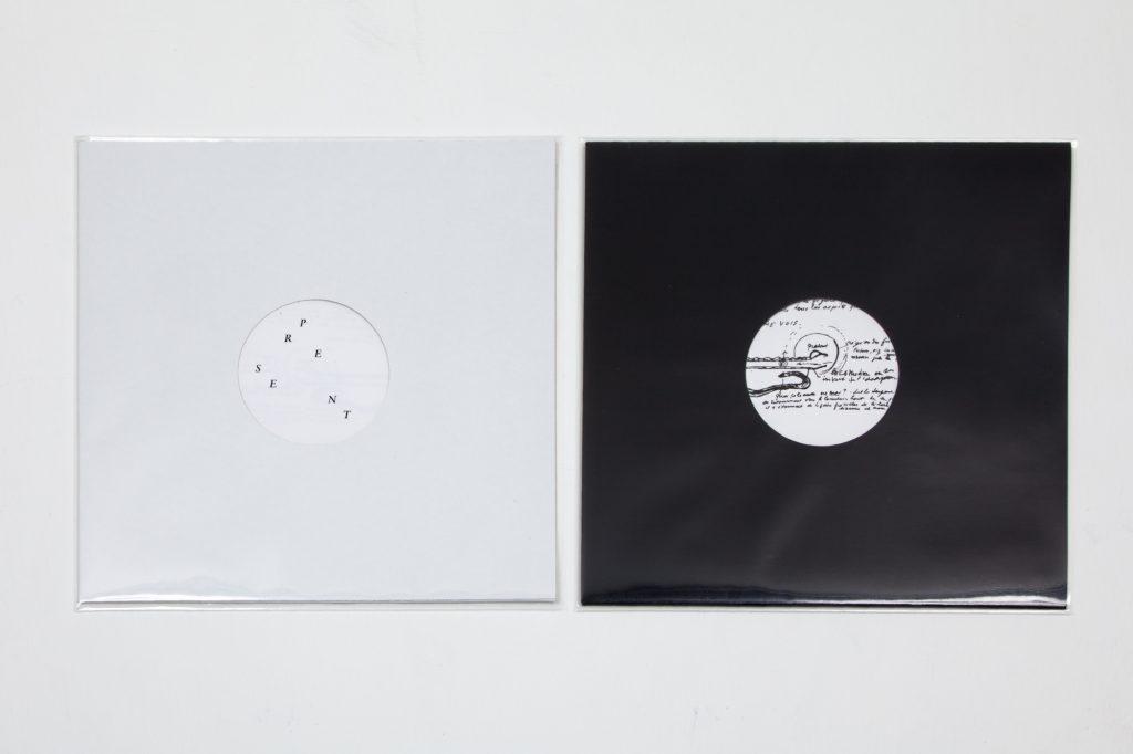PRESENT / SERPENT 2015 vinyl adhésif, pochette de 33 tours et certificat 31,3 x 31,3 cm 30 exemplaires numérotés et signés