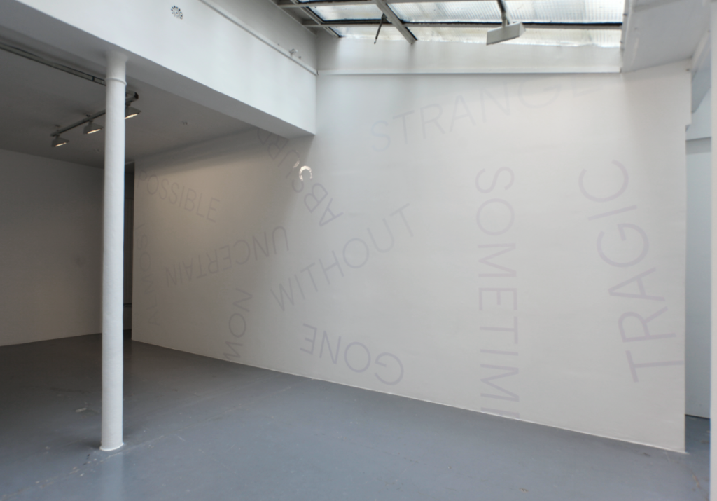 UNTITLED 2015 wall piece dimensions variable unique work