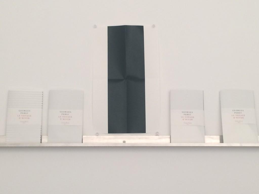 GEORGES PEREC, LE VOYAGE D'HIVER 2015 impression numérique sur papier plié 18 x 11 cm 30 exemplaires numérotés et signés