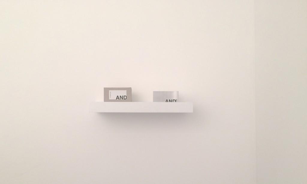 AND 2015 aluminium, lettres adhésives noires et boîte en carton10 x 5 x 5 cm 30 exemplaires signés