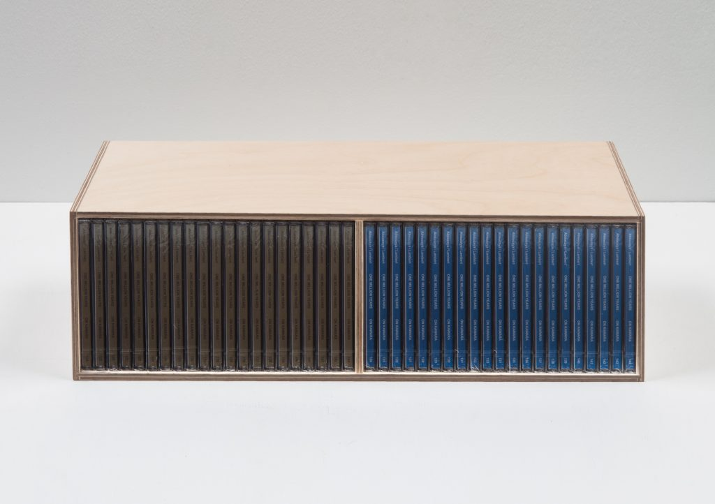 One Million Years (past and future) #124-144, 42 CD audio sous coffret en bois (Photo: Sylvie Chan-Liat)