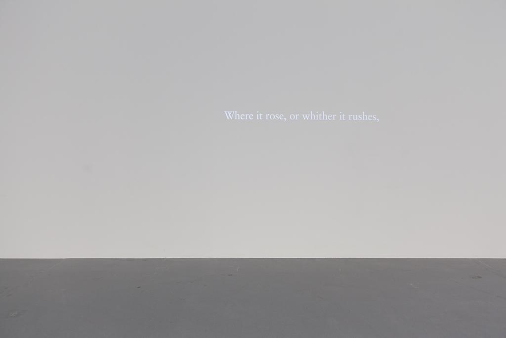 HERE / EMILY DICKINSON 2015 animation N/B, muet en loop œuvre unique
