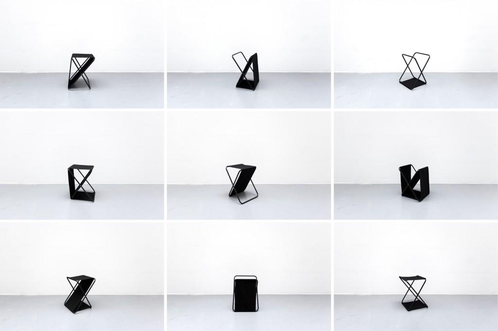 2015, tissu noir et métal, 50 x 40 x 35 cm, œuvres uniques