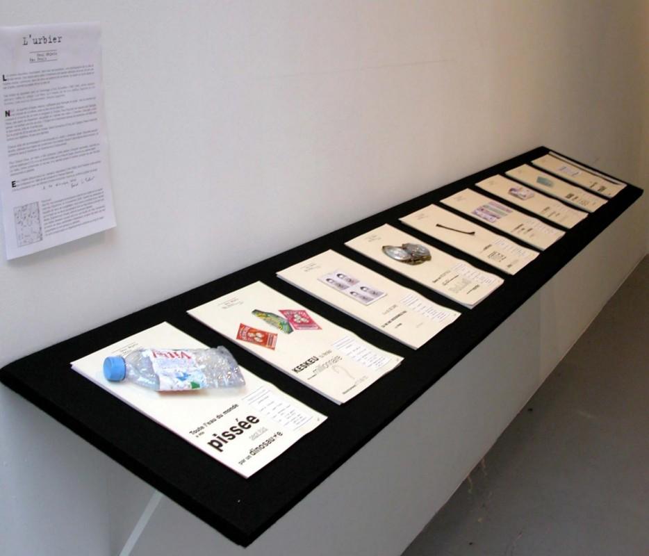 L'URBIER (Neuf objets pas neufs) , 2005, haÏku, détrituts industriels