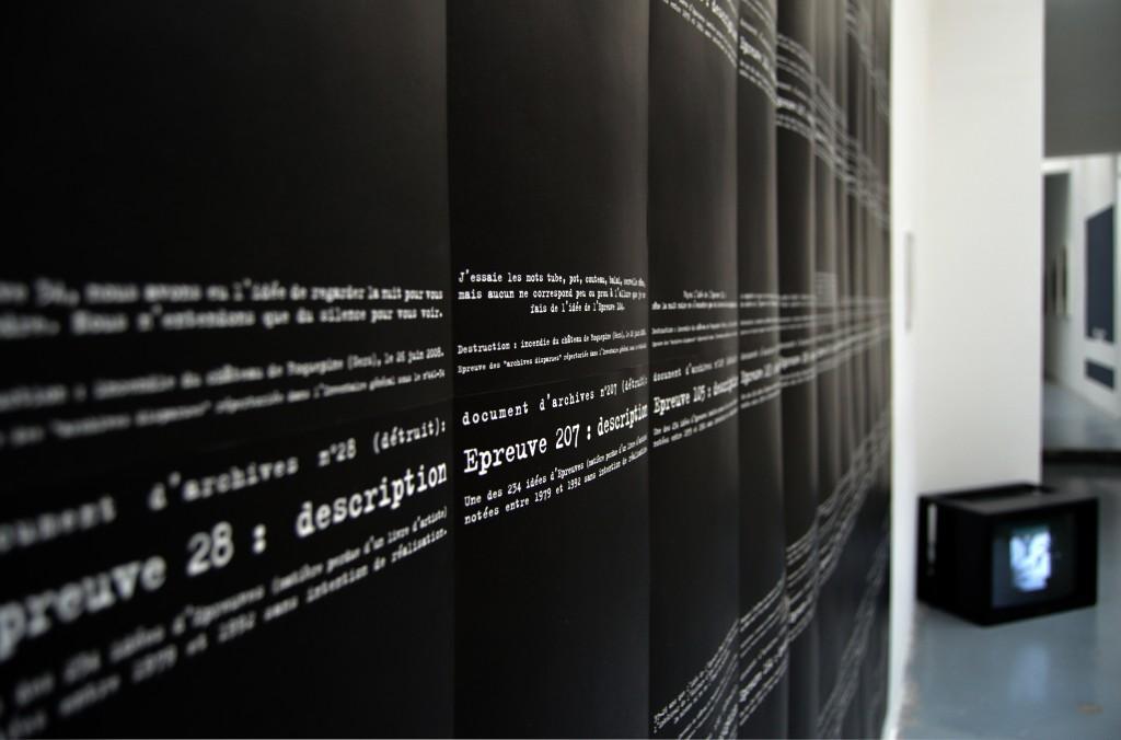 ARCHIVES DISPARUES (FRAGMENTS) : 234 VUES DE DOCUMENTS ABSENTS, 2016, impression originale sur papier, 28 x 21,5 cm pour chaque «document», oeuvre unique