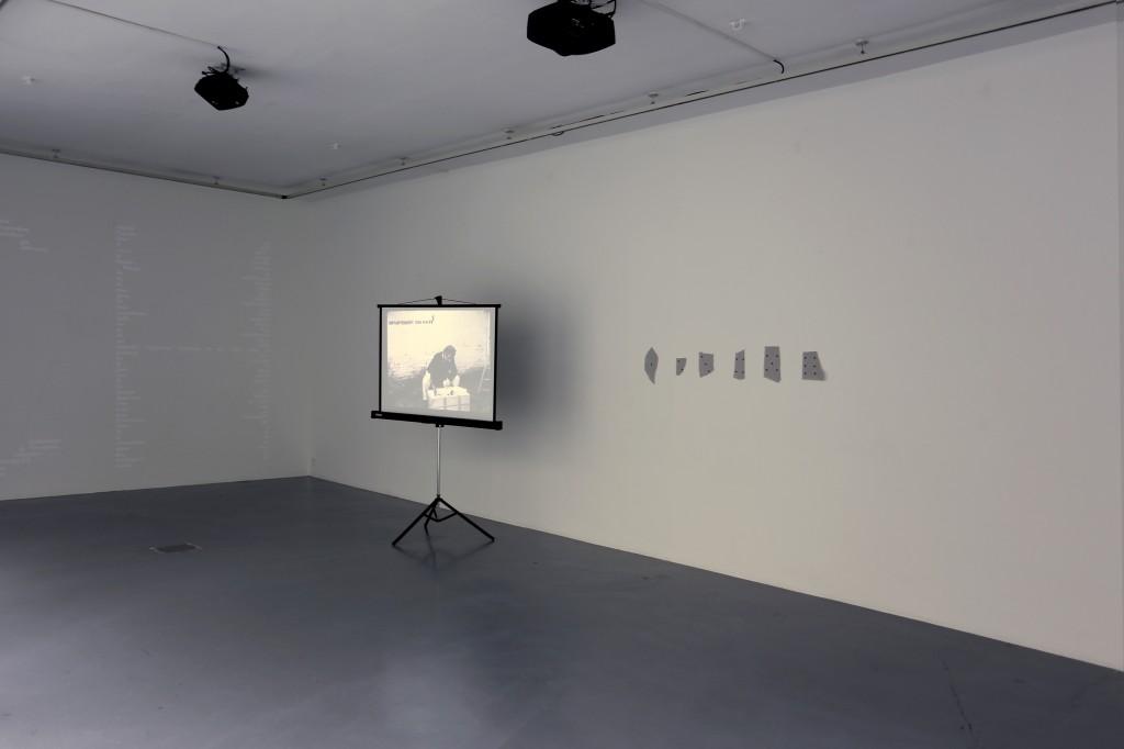 Changement, 2016, La pluie (projet pour un texte), 1969, and Dé, 2016, photo : Patrick Lafievre