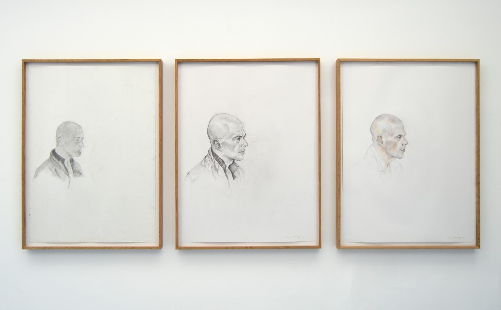 THE PORTRAIT OF TIME (OR TWENTY YEARS OF INSTANTS), 2015, crayon sur papier, 73 x 55cm chacun, oeuvre unique
