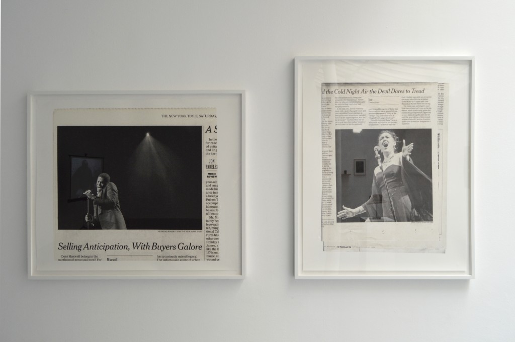 SONGS WITHOUT WORDS (MAXWELL), 2012, tirage pigmentaire encadré, 76 x 90 cm, édition #1/3 <br /> SONGS WITHOUT WORDS (FAUST), 2012, tirage pigmentaire encadré, 90 x 76 cm, édition #1/3
