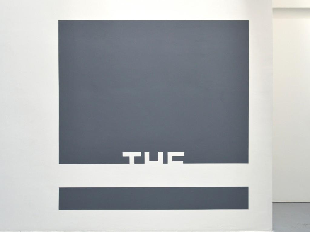 THE, 2016, wall piece (grise), 200 x 200 cm, oeuvre unique