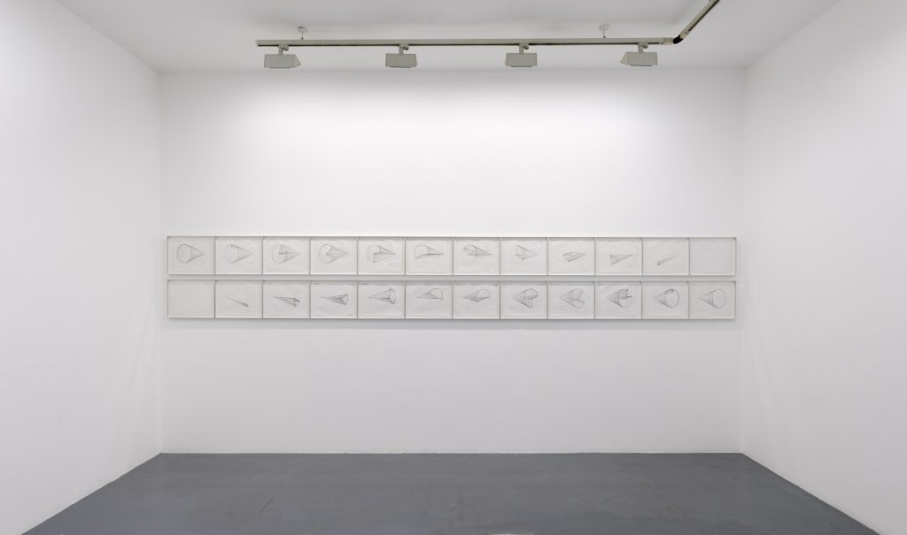 2006-8, working drawings, 360 degree turn, set of 24, framed, 28 x 35 cm each, unique works, photo François Doury
