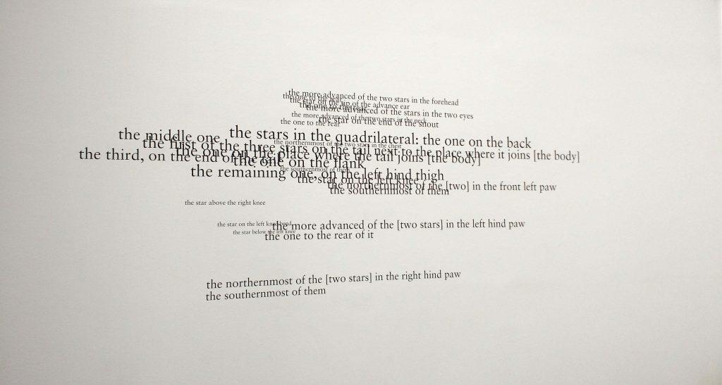 2016, text piece, black adhesive letters, dimensions variable, unique work