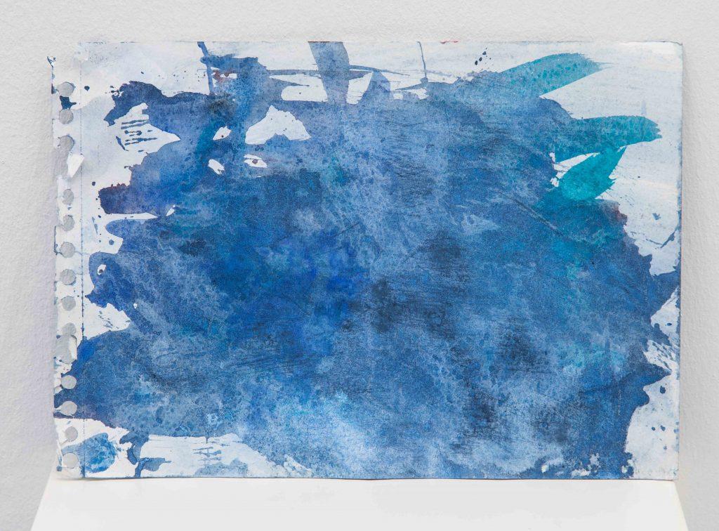 WATERCOLOR (2), 2017, aquarelle sur papier, eau de mer, 21 x 29,5 cm