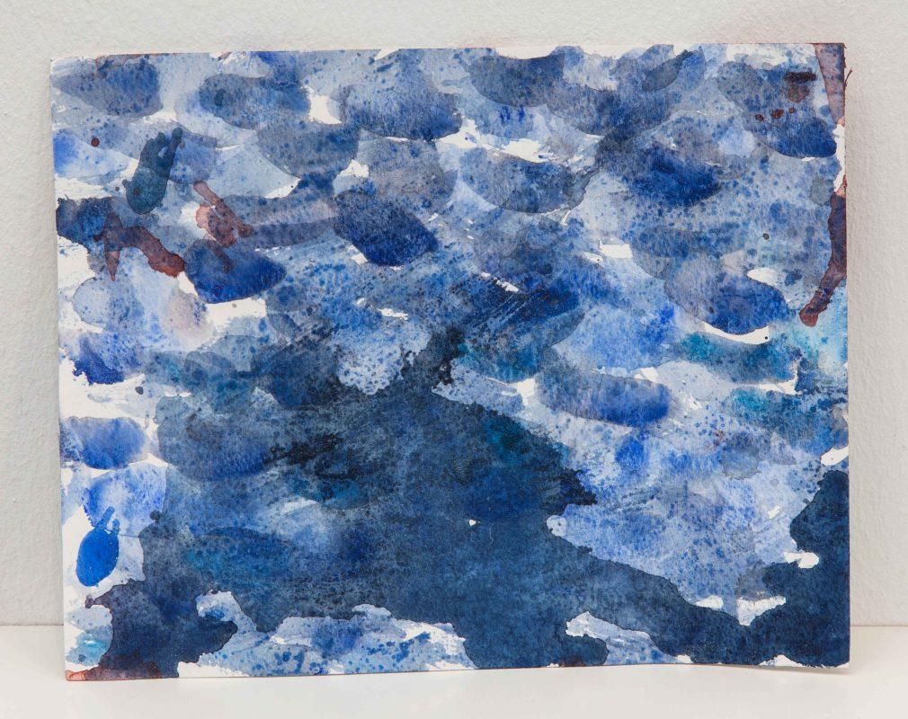 WATERCOLOR (3), 2017, aquarelle sur papier, eau de mer, 19 x 24 cm