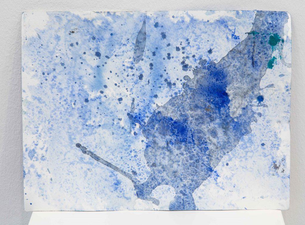 WATERCOLOR (4), 2017, aquarelle sur papier, eau de mer, 24 x 32 cm