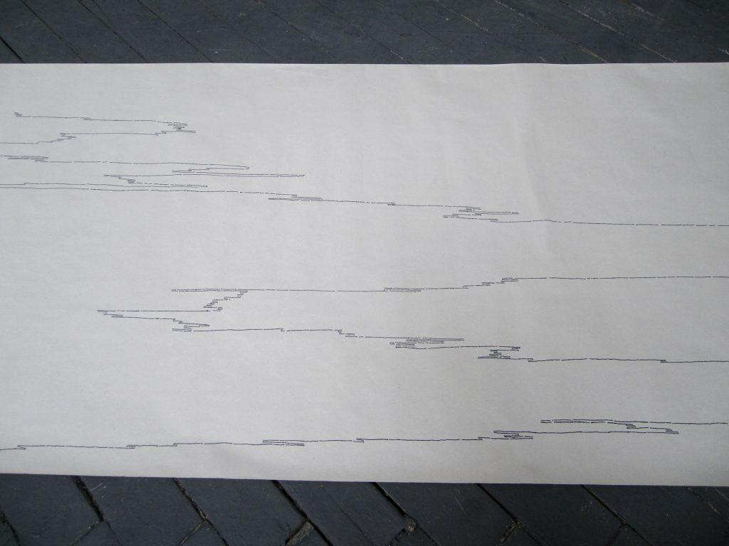 depuis 2011, dessin, encre sur papier, stylo plume, dimensions variables,  deux individus intimes, retrouvailles, tentatives #12, 38 min