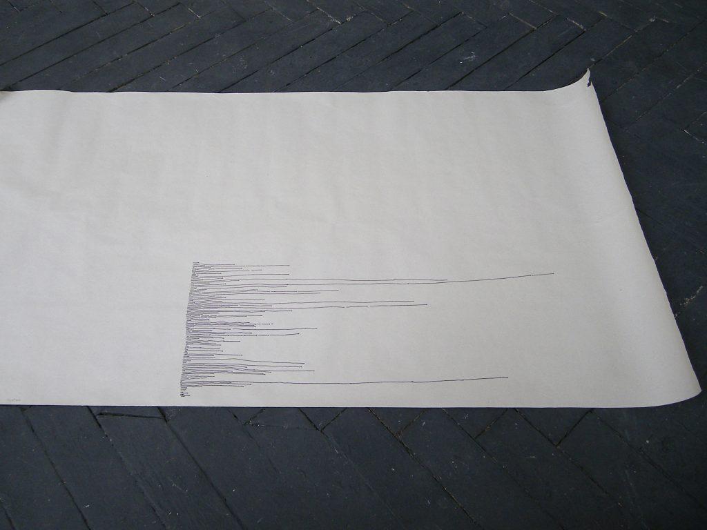 depuis 2011, dessin, encre sur papier, stylo plume, dimensions variables, deux individus, tentative #00, 28 min