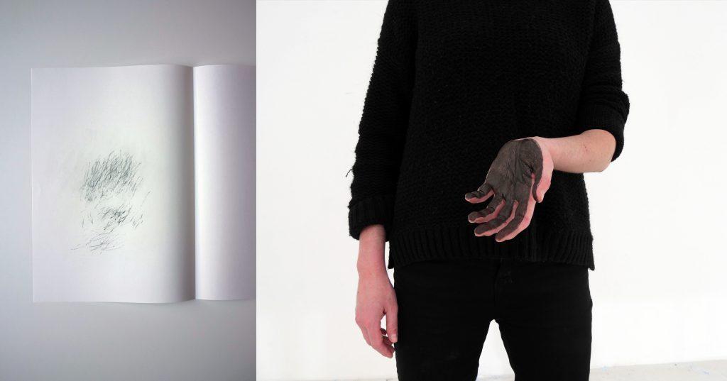 2014 action performative de dessin, 3 perforateurs min, stylo bille et papier non-couché 110gr