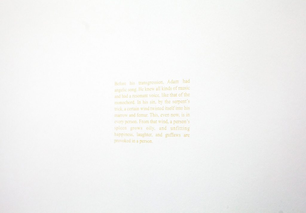 2018, Text on paper, 45×57 cm