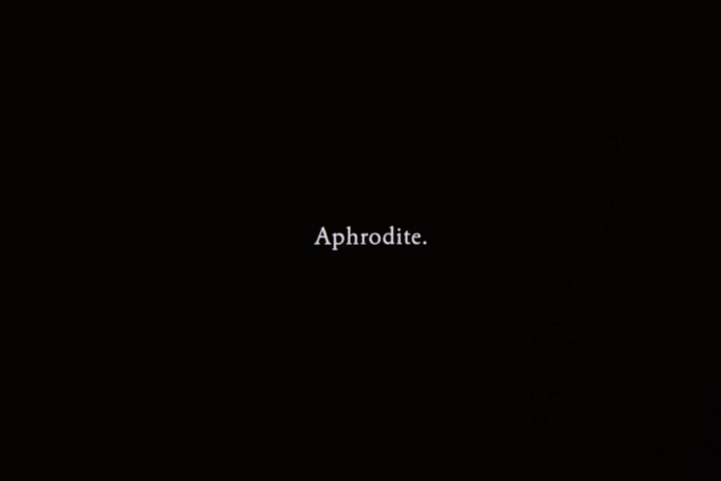 APHRODITE, 2018, digital film, 4K, 5 min 45 sec, edition 1/5