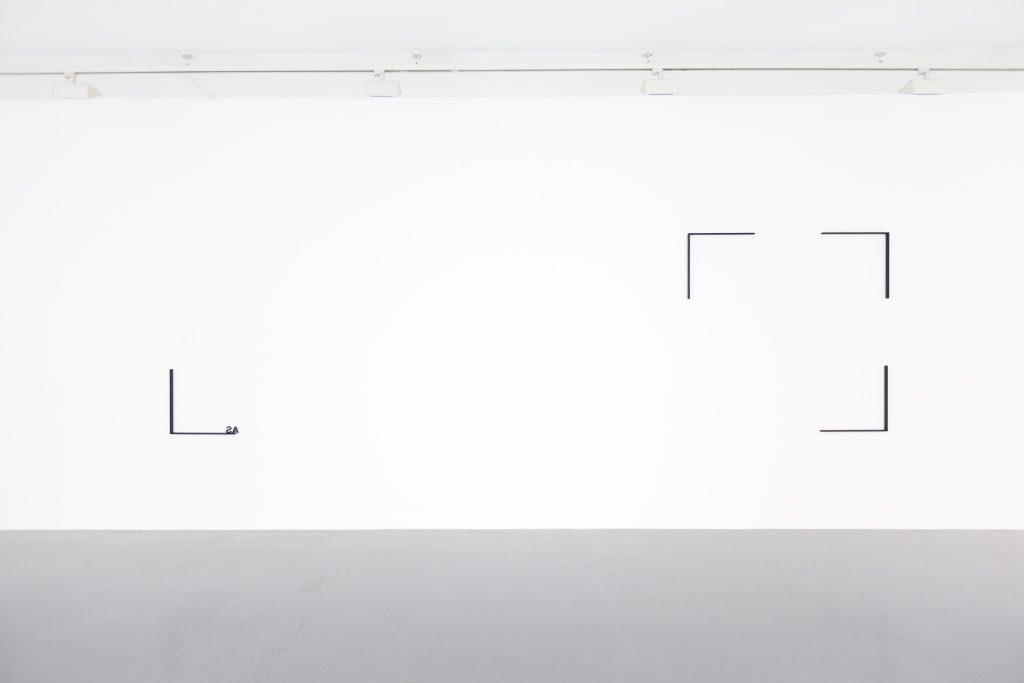 steel, painted black four elements each 50 cm high Dimensions variable Unique work