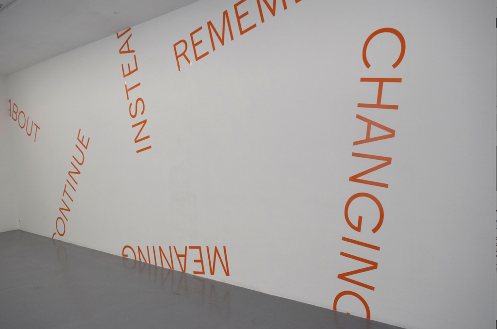 wall piece (orange), dimensions variable unique work