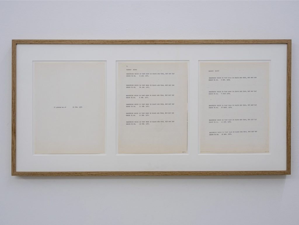 1971, xerox on paper (triptych), 42 x 87 cm, unique work
