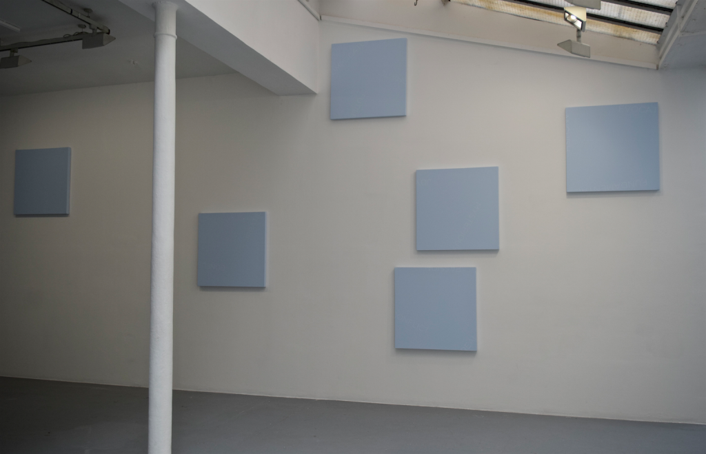 UNTITLED, 2016, acryl on canvas / set of 6 paintings, 76 x 76 cm each, unique work