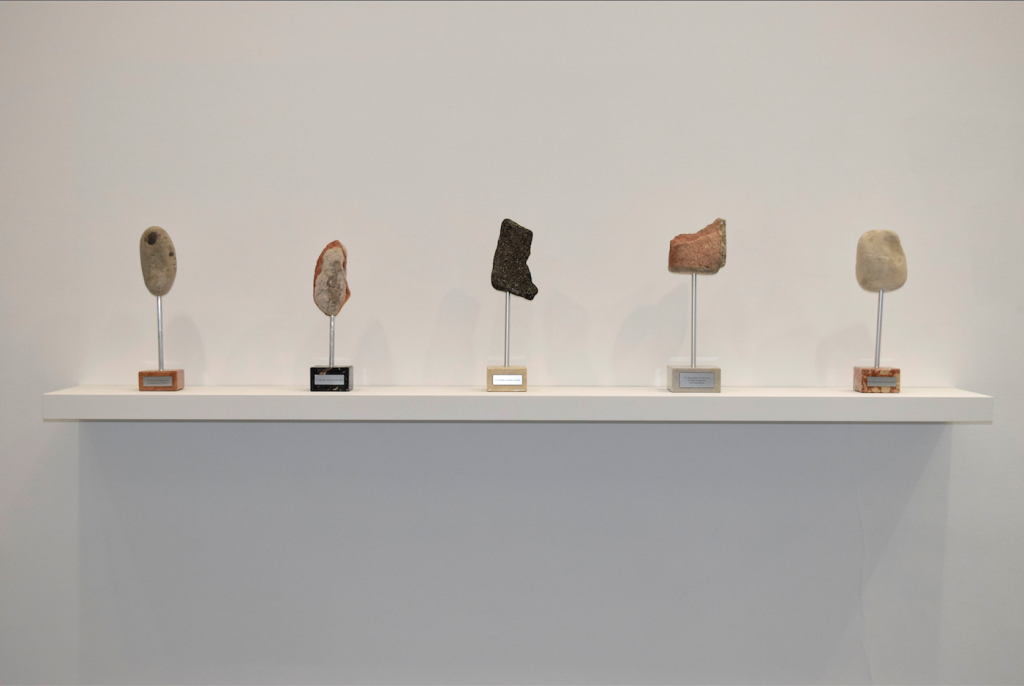 LES TROPHEES (27, 11, 70, 74, 59), stone and marble, dimensions variable, unique works