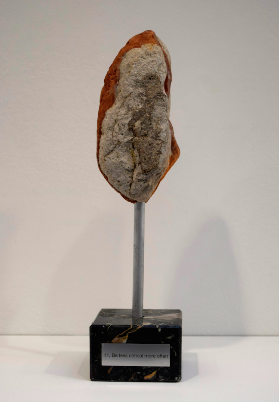 TROPHEE 11 stone and marble, dimensions variable, unique work
