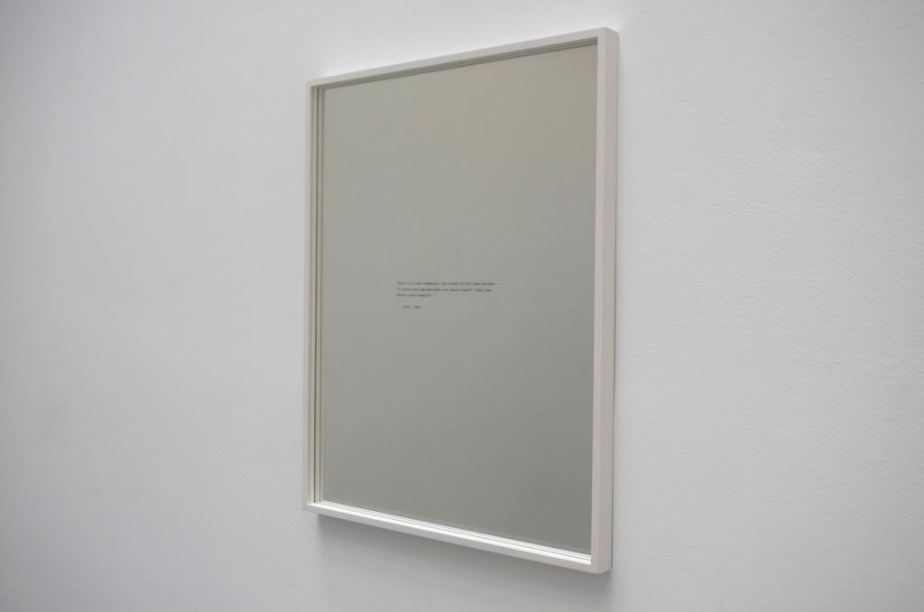 BERTRAND, 2020, screen print, mirror, frame, 61 x 48 x 4 cm, #2/5