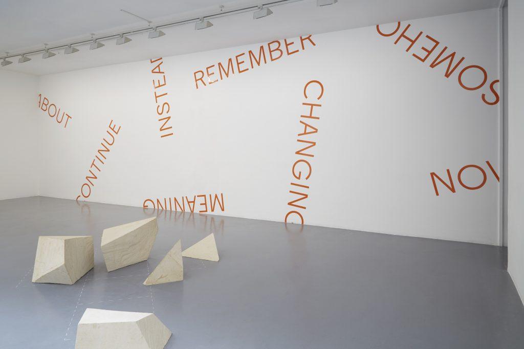 UNTITLED, 2020 wall piece (orange), dimensions variable, unique work Photo Marina Gusina