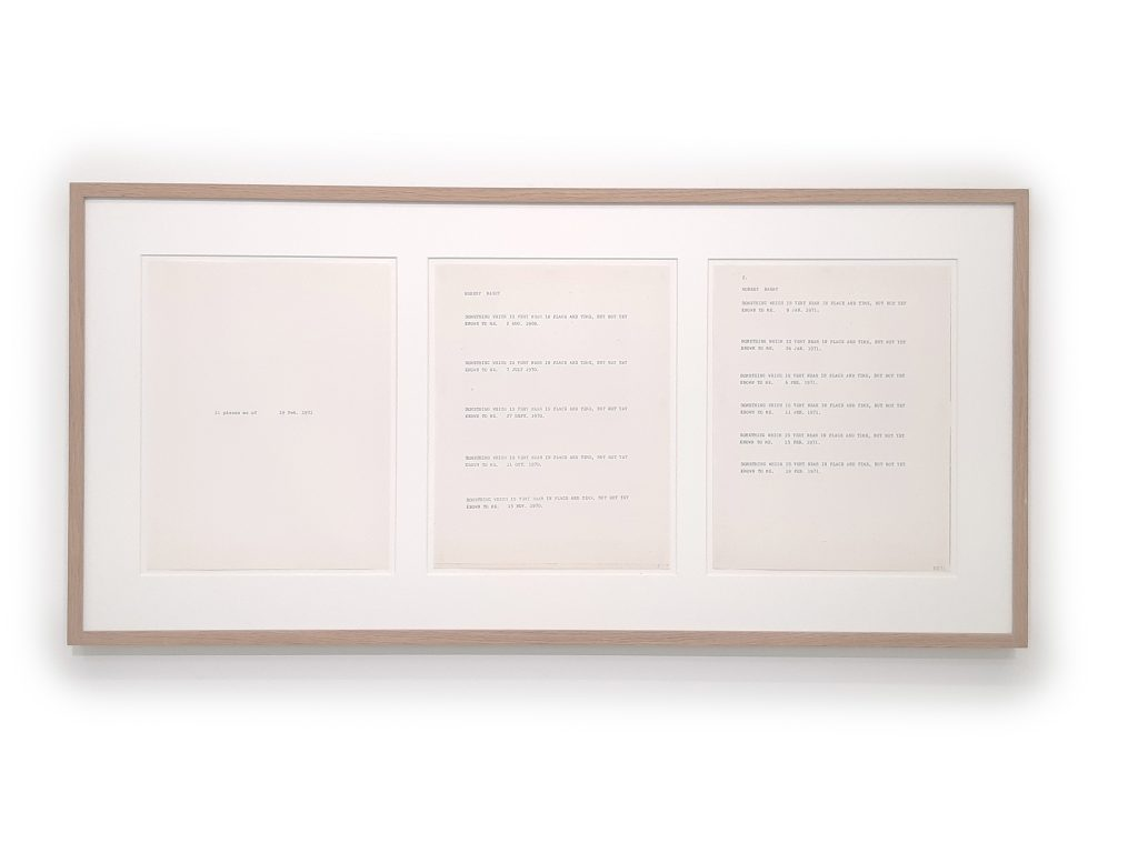 Triptych, xerox on paper, 87 x 42 cm, unique work signed, Photo Eva Rey