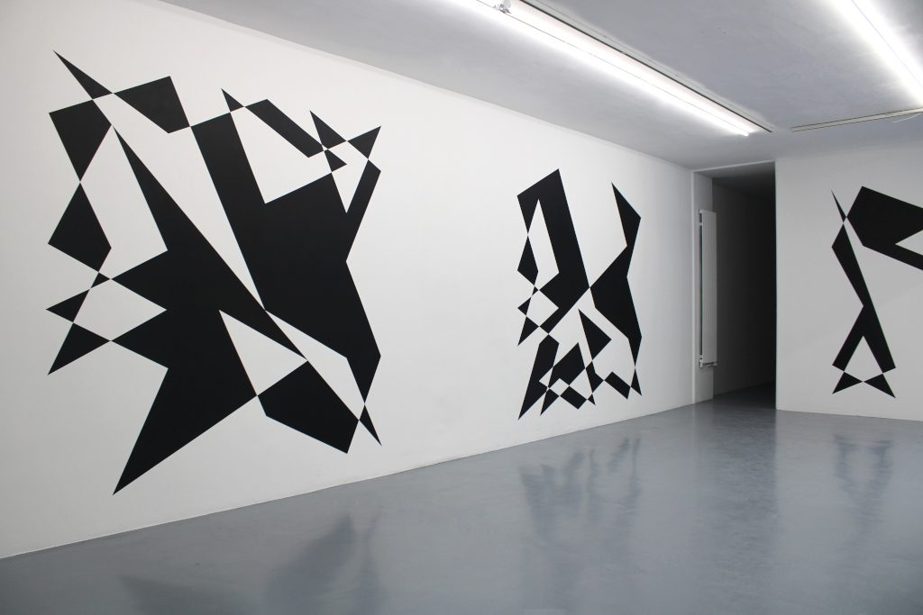 installation, ensemble de 64 peintures murales et 1 animation, dimensions variables, oeuvre unique dans une série de 5 avec certificat