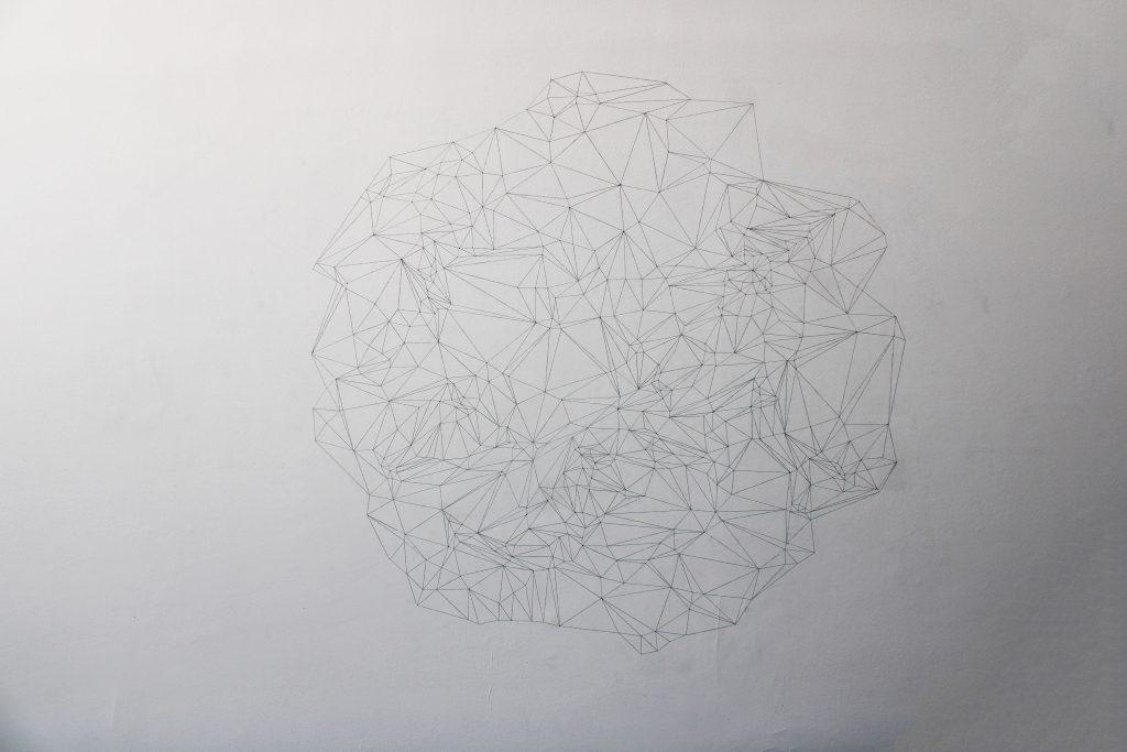 dessin mural au crayon, dimensions variables, édition de 5 exemplaires avec certificat